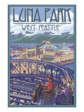 Luna Park Scene  Seattle  Washington