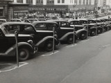 Black Cars and Meters  Omaha  Nebraska  c1938