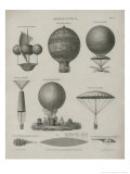 Aeronautics  Early Balloon Designs  c1818