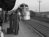 The Burlington Zephyr  East Dubuque  Illinois  c1940