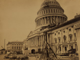 Capitol under Construction  Washington  DC  c1863