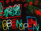 Neon Signs for Sale in Dotombori District Market  Osaka  Japan