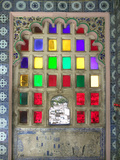 Stained Glasses in City Palace  Udaipur  Rajasthan  India
