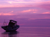Fishing Boat at Sunset  Bunaken  Sulawesi  Indonesia