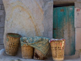 Doorway with Basket of Grapes  Village in Cappadoccia  Turkey