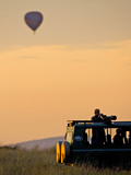 Hot Air Balloons Flying Over the Maasai Mara  Kenya