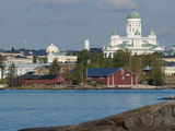 Views of City from Harbor Including Lutheran Cathedral  Helsinki  Finland