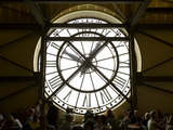 Diners Behind Famous Clocks in the Musee d'Orsay  Paris  France