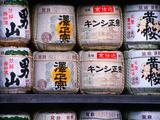 Barrels of Sake  Japanese Rice Wine  Tokyo  Japan