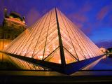 The Louvre Museum at Twilight  Paris  France