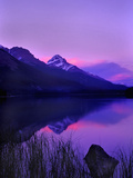 Canada  Alberta  Banff Sunset along Icefields Parkway