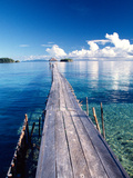 Wooden Jetty Extending off Kadidiri Island  Togian Islands  Sulawesi