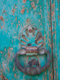 Metal Knocker on Door in Small Village  Cappadoccia  Turkey