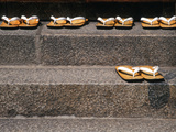 Zori Sandals on Steps of a Shrine  Kyoto  Japan