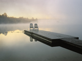 Chairs on Dock  Algonquin Provincial Park  Ontario  Canada