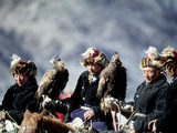 Eagle Hunters at the Golden Eagle Festival  Mongolia