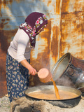 Turkish Women Cooking a Syrup  Cappadoccia  Turkey