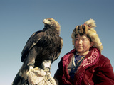 Youngest Eagle Hunter in the Festival  Talgat  Golden Eagle Festival  Mongolia