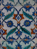 Colorful Tile Work in the Topkapi Palace  Istanbul  Turkey
