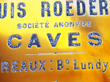 Polished Brass Sign at Winery of Louis Roederer  Reims  Champagne  Marne  Ardennes  France