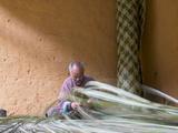 Man Weaving Bamboo Mat  Phobjikha Valley  Trongsa  Bhutan