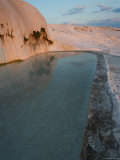 Geological Formations of the Hot Springs  Pammukkale  Turkey