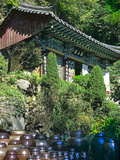 Buddhist Temple in Mountains Above Taegu  South Korea