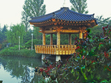 Pagoda Next to Lake and Park  Kyongju  South Korea