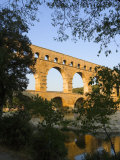The Pont du Gard Roman Aquaduct Over the Gard River  Avignon  France
