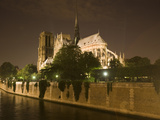 Notre Dame Cathedral at Night  Paris  France