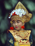 Young Balinese Dancer in Traditional Costume  Bali  Indonesia