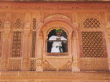 Man at Window Inside Meherangarh  Majestic Fort  Jodhpur  Rajasthan  India