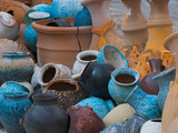 Pottery on the Street in Cappadoccia  Turkey