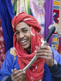 Moroccan Souvenir Seller  Ait Benhaddou  South of the High Atlas  Morocco