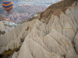 Hot Air Balloon View of the Landforms of Cappadoccia  Turkey