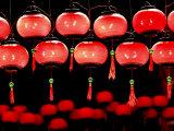 Lanterns in Chinese Temple  Kuala Lumpur  Malaysia
