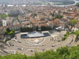 View from Roman Theatre Amphitheatre in Vienne  4th Century  Isere  France