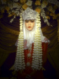 Javanese Bride in Colorful Traditional Dress  Blitar  East Java  Indonesia