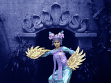 Balinese Dancer in Front of Temple in Ubud  Bali  Indonesia