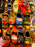 Display of Shoes for Sale at Vendors Booth  Spice Market  Istanbul  Turkey