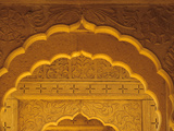 Carved Sandstone Arches Within Cenotaphs at Bada Bagh (1585)  Jaisalmer  Rajasthan  India