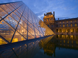 The Louvre at Twilight  Paris  France