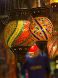Stained Glass Lamp Vendor in Spice Market  Istanbul  Turkey