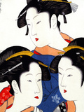Female Figures on Silk  Japanese Silk Art  Japan
