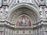 Carvings and Artwork Near Entrance of the Duomo of Santa Maria Del Fiore  Florence  Italy