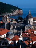 Dalmation Coast on the Adriatic Sea  Medieval Walled City of Dubrovnik  Serbia