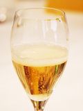 Champagne Flute with Gosset Grand Reserve Champagne  Restaurant Les Berceaux  Patrick Michelon