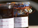 Jars Pots of Marmelade Covered with Provencal Cloth  Clos Des Iles  Le Brusc