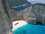 Aerial View of Shipwreck Beach  Zakynthos  Ionian Islands  Greece