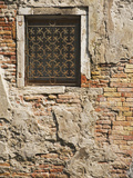 Ornate Metalwork Window Covering Along Side Street  Venice  Italy
